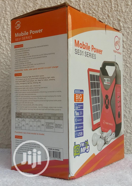 Archive: 8000mah - 3watt Rechargeable Solar Energy Home Lighting Kit