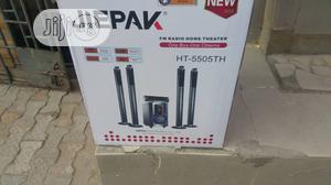 Jiepak Home Theater Sound System With Two Long Speaker   Audio & Music Equipment for sale in Lagos State, Amuwo-Odofin