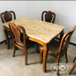 Quality Marble/Wooden Dinning Table With 4 Chairs   Furniture for sale in Abuja (FCT) State, Wuse