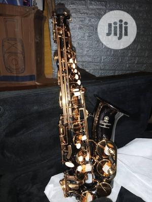 Original Prof Yamaha Alto Saxophone, Black and Gold Colour | Musical Instruments & Gear for sale in Lagos State, Ikeja