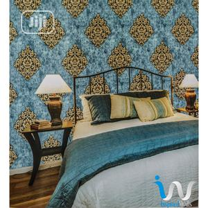 Bronze in Light Blue Damask Wallpaper | Home Accessories for sale in Abuja (FCT) State, Dutse-Alhaji