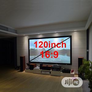 """Electric Projector Screen 120"""" X 120""""   TV & DVD Equipment for sale in Lagos State, Ikeja"""