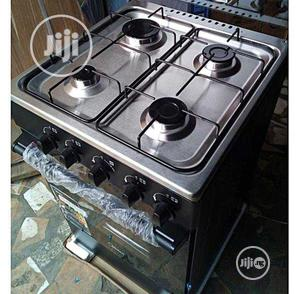 New Midea 4gas Burners Oven 50 by 50 Blue Flame Warranty | Kitchen Appliances for sale in Lagos State, Ojo