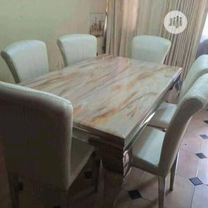 Good Quality Dining Table 6 Chairs | Furniture for sale in Lagos State, Ojo