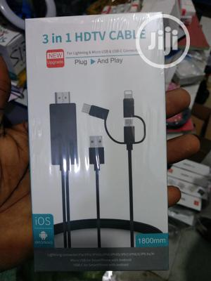3 In 1 HDTV Cable For iPhone iPad USB C USB Power Adapter | Accessories & Supplies for Electronics for sale in Lagos State, Ojo