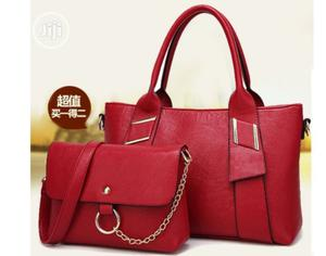 2 In 1 Genuine Quality Red Ladies Handbag | Bags for sale in Lagos State, Alimosho