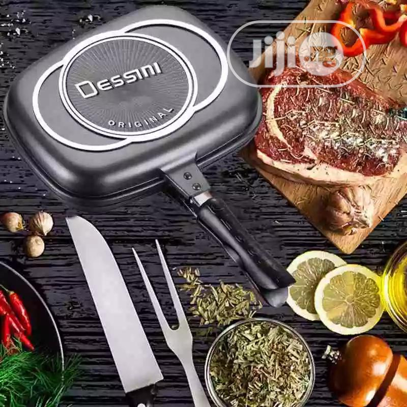 36cm Dessini Double Sided Grill Pan