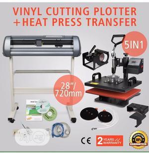 Vinyl Cutter+5in1 Press Machine   Printing Equipment for sale in Lagos State, Ikeja