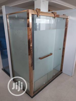 10mm Gold Glass Shower Cubicle | Plumbing & Water Supply for sale in Lagos State, Eko Atlantic