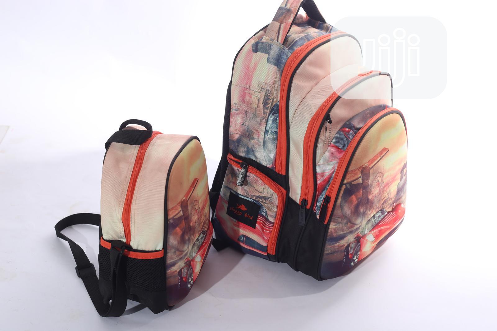 Glossy Bird 3 in 1 School Bag