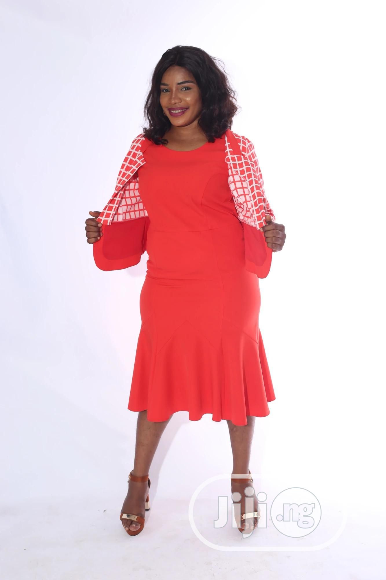 Quality Female Dress With Jacket