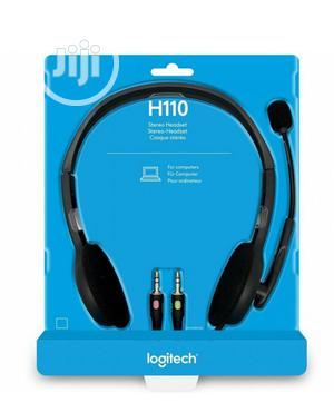Logitech H110 Stereo Headset With Noise-cancelling   Headphones for sale in Lagos State, Yaba