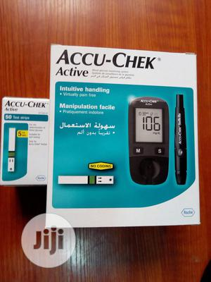 Accu-chek Active Blood Sugar Testing Kit Meter And Strips | Medical Supplies & Equipment for sale in Enugu State, Enugu