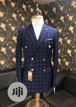 Blue Checkers Double Breasted Suit | Clothing for sale in Lagos State, Lagos Island (Eko)