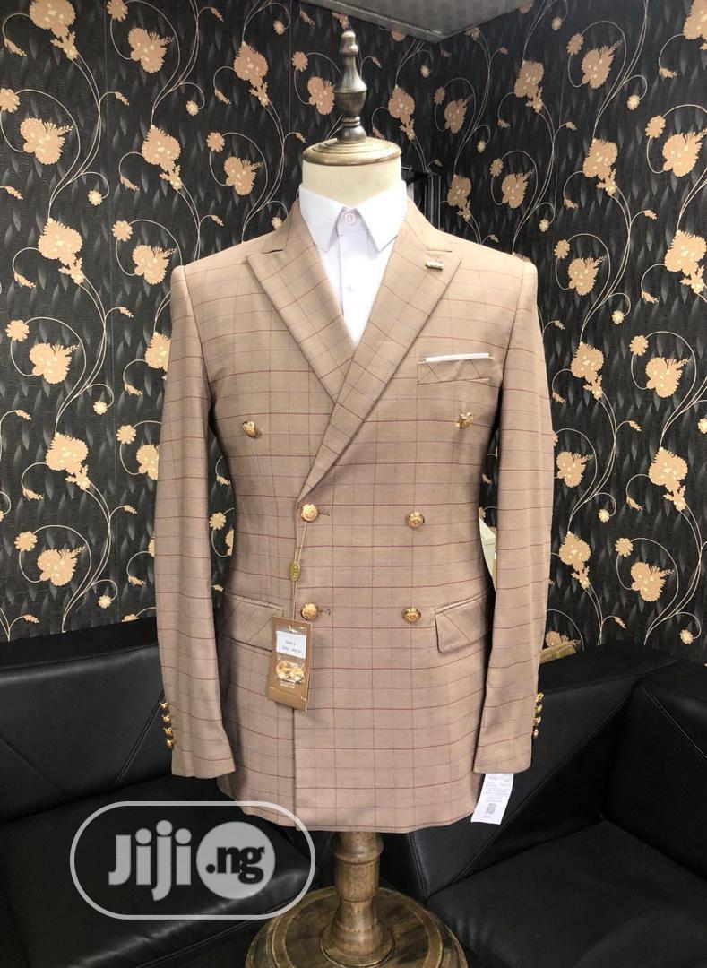 Blue Checkers Double Breasted Suit | Clothing for sale in Lagos Island (Eko), Lagos State, Nigeria