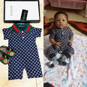 Gucci Baby Romper and Shoe   Children's Clothing for sale in Lagos State, Surulere