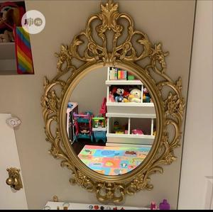 Large Gold Designed Wall/Bathroom Mirror   Home Accessories for sale in Lagos State, Surulere
