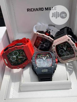 Richard Mille Rubber Strap Watch | Watches for sale in Lagos State, Surulere