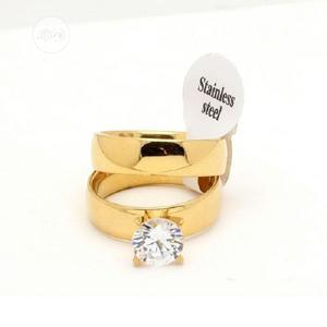 Golden Crystal Wedding Ring Sets | Wedding Wear & Accessories for sale in Lagos State, Apapa