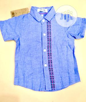 Blue Cotton Shirt | Children's Clothing for sale in Abuja (FCT) State, Galadimawa