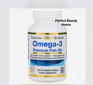 CGN Omega-3 Premium Fish Oil, 100 Fish Gelatin Softgels | Vitamins & Supplements for sale in Lagos State, Ikeja