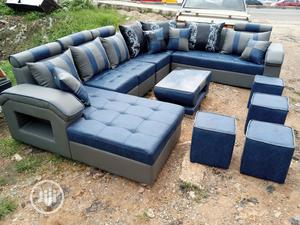 U-Shape Sofa Chairs With Table and Stools. Leather Couch | Furniture for sale in Lagos State, Ajah