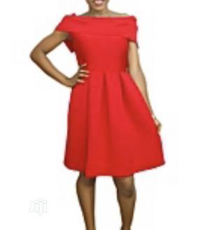 Red Off Shoulder Skater Dress   Clothing for sale in Lagos State, Lekki
