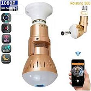 Bulb Camera Wifi 1080p 360 Degree Panoramic Night Vision | Security & Surveillance for sale in Lagos State, Ikeja