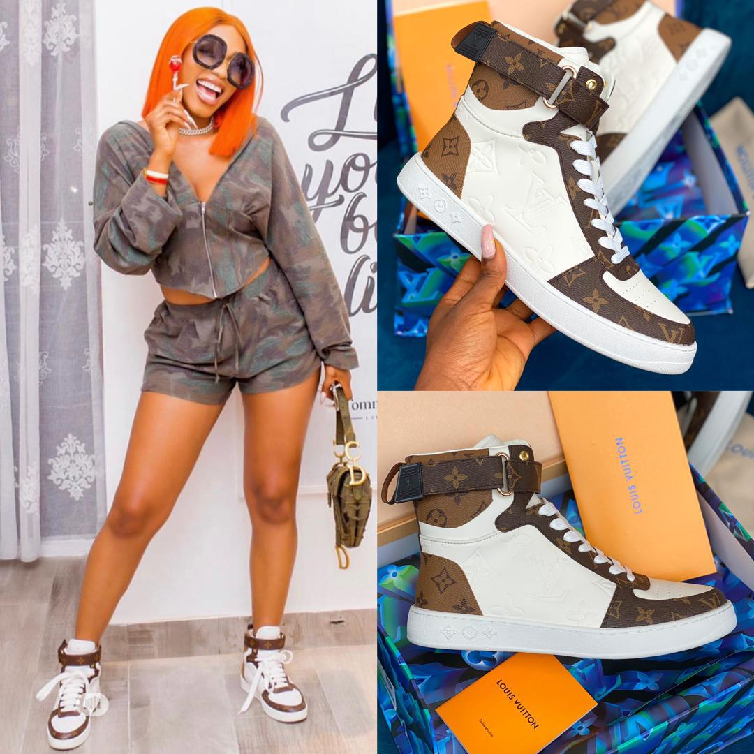High Quality Louis Vuitton Hightop Ladies Sneakers | Shoes for sale in Magodo, Lagos State, Nigeria