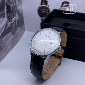 Fantor Silver Leather Strap Watch | Watches for sale in Lagos State, Lagos Island (Eko)