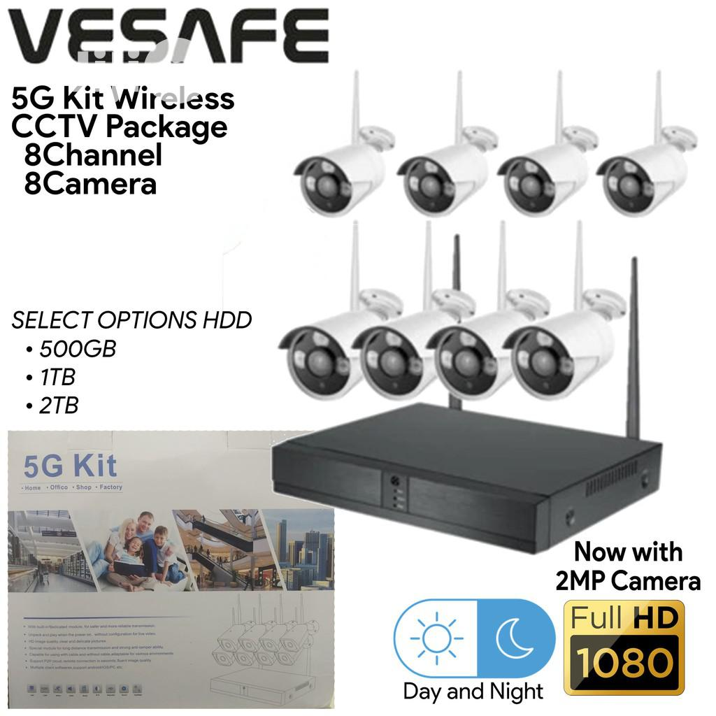 8 Channels Wireless Surveillance Combo Kit