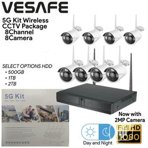 8 Channels Wireless Surveillance Combo Kit | Security & Surveillance for sale in Lagos State, Ikeja