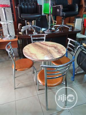 Restaurant Stainless Chairs and Marble Round Table | Furniture for sale in Lagos State, Isolo