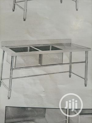 Double Sink With Work Table | Restaurant & Catering Equipment for sale in Lagos State, Ojo