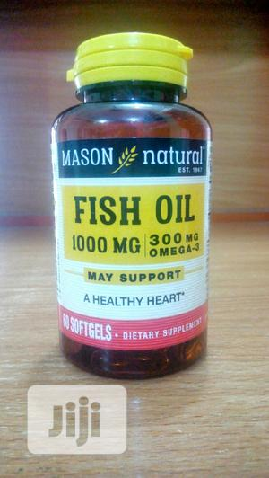 Mason Natural Fish Oil 1000mg/300mg Omega 3 X 60 | Vitamins & Supplements for sale in Lagos State, Surulere