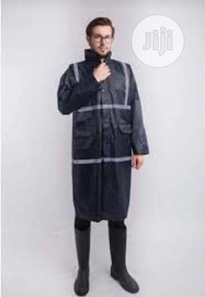 Gown Polyester Raincoat With Reflective (Yellow, Navy Blue & | Safetywear & Equipment for sale in Lagos State, Ikeja