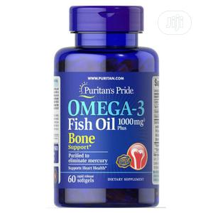 Puritan's Pride Omega-3 Fish Oil 1000mg Plus Bone X 60   Vitamins & Supplements for sale in Lagos State, Surulere