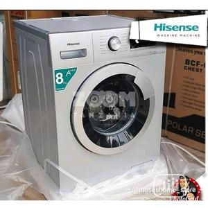 Brand New Hisense (WM8012S)8KG Automatic Front Loader Silver | Home Appliances for sale in Lagos State, Ojo