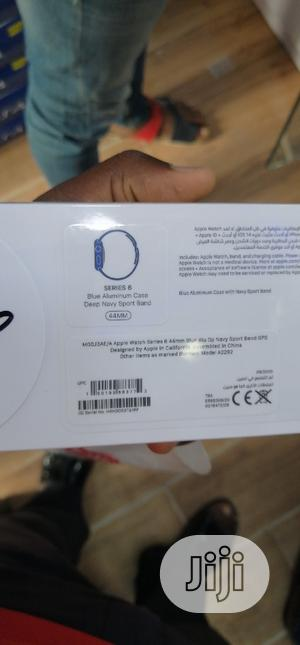 Apple Watch Series 6 44mm GPS Blue Aluminum Case | Smart Watches & Trackers for sale in Lagos State, Ikeja