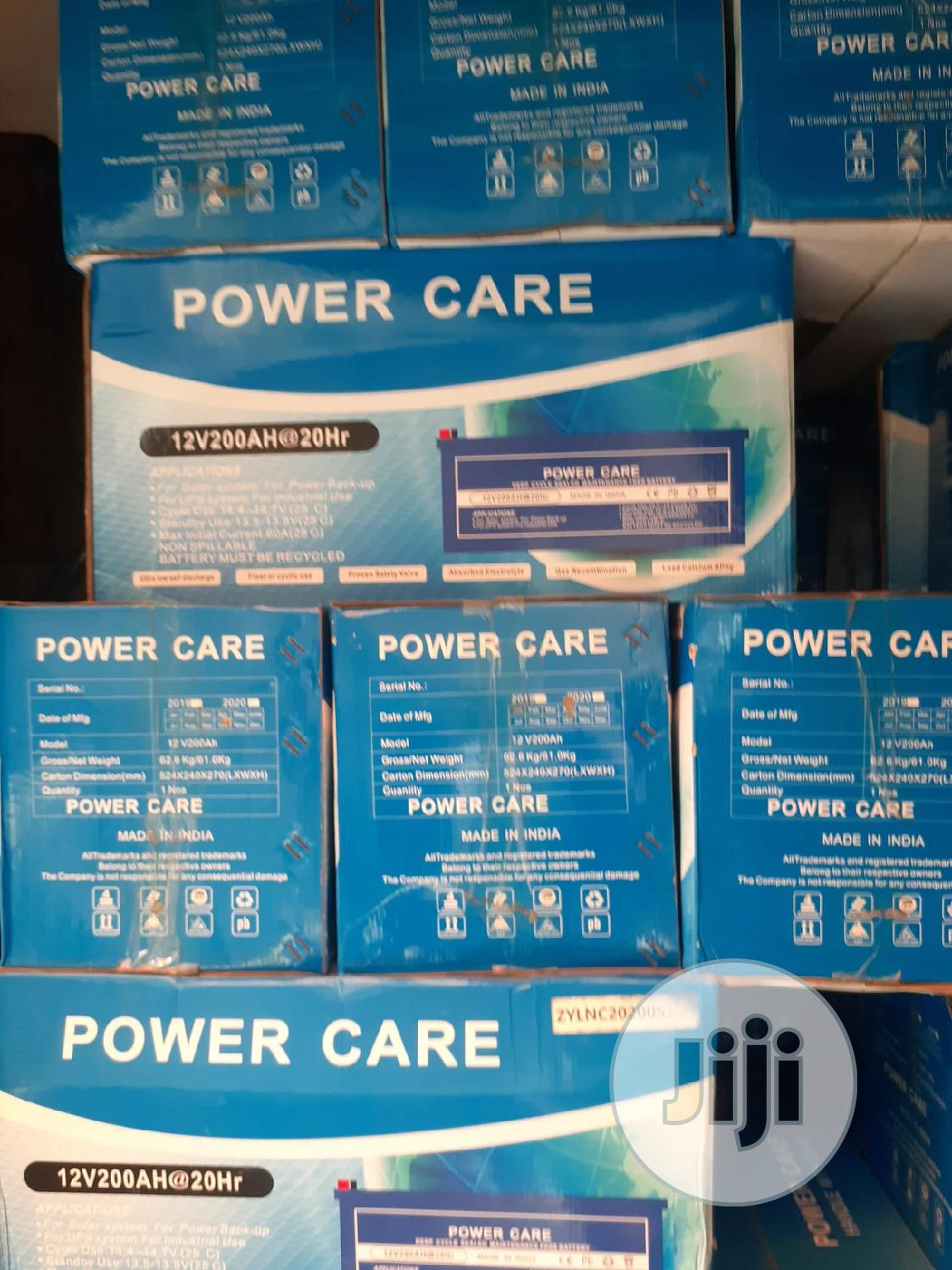 12v 200ah Power Care Battery Is Available