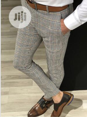 Men's Classic Plaid Pants Trousers-Slim Fit, Checkers   Clothing for sale in Oyo State, Ibadan