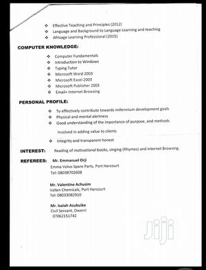 Health Beauty CV   Health & Beauty CVs for sale in Rivers State, Port-Harcourt