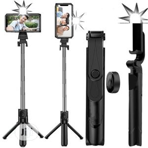Selfie Stick With Tripod Stand Remote And Flashlight   Accessories for Mobile Phones & Tablets for sale in Lagos State, Ikeja