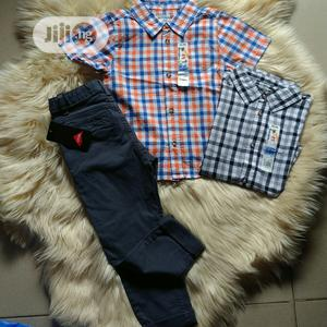 Chinos Amd Cotton Shirt Combo | Children's Clothing for sale in Lagos State, Oshodi