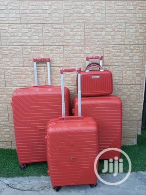Ox Red Color Travel Trolley Bags (3 Sets)   Bags for sale in Lagos State, Ikeja