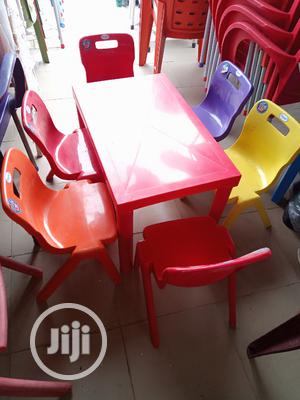 Strong Plastic Children's Table With Chairs   Children's Furniture for sale in Lagos State, Gbagada