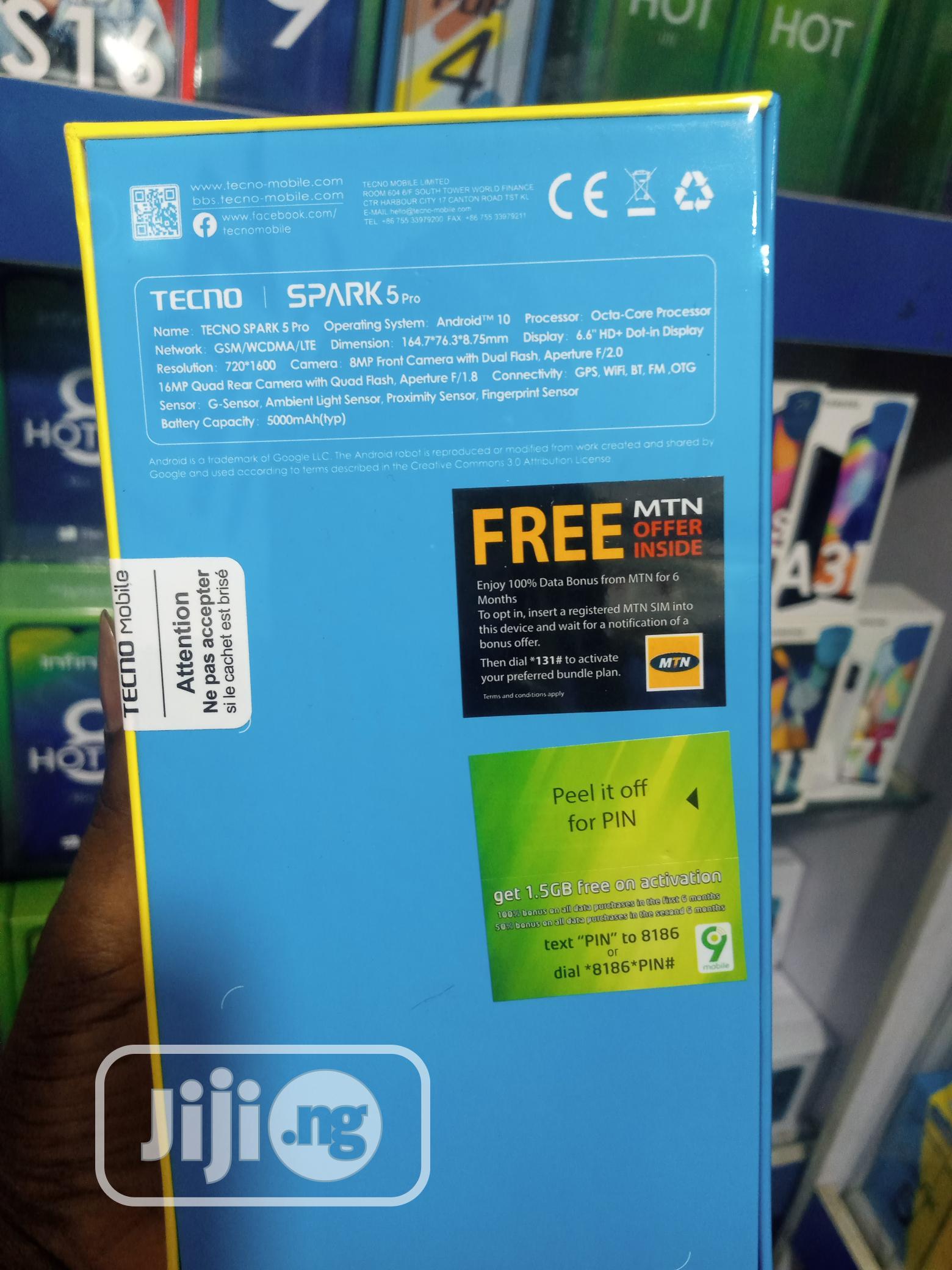 New Tecno Spark 5 Pro 64 GB | Mobile Phones for sale in Ikeja, Lagos State, Nigeria