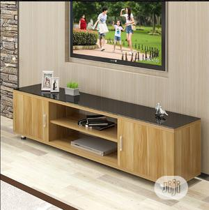 5ft Brown Tv Stand With Glass Top | Furniture for sale in Lagos State, Ikeja
