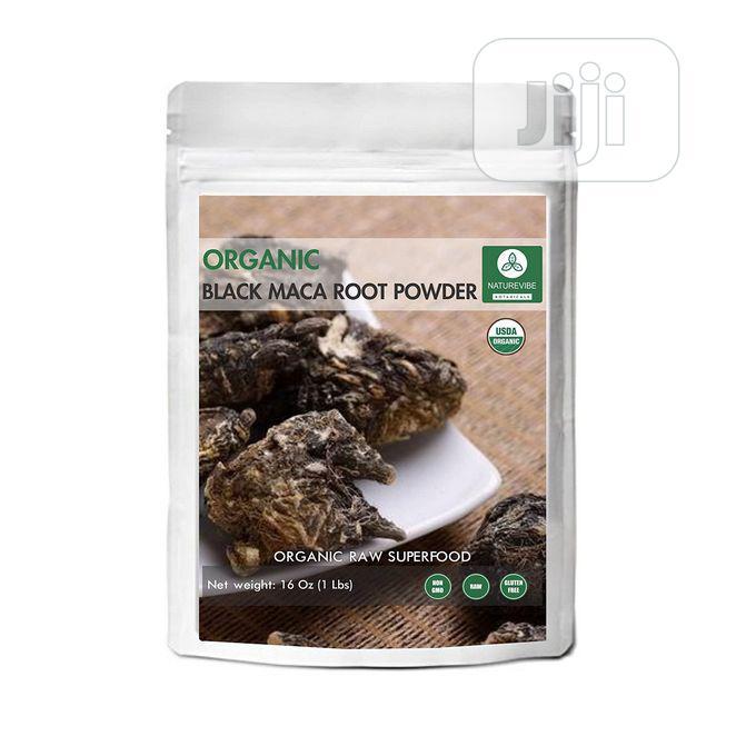 Naturevibe Botanicals Organic Black Maca Powder 1lb - Lepidi