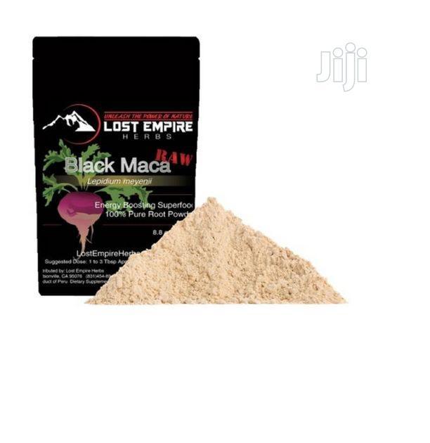 Lost Empire Herbs Raw Black Maca Powder - Organic 8.8OZ / 25